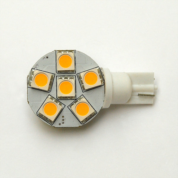 T10 6 SMD 5050 LED Wedge Lamp