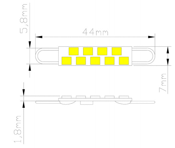 High Output Smd 5050: 44mm 9 SMD 2835 High Output LED Rigid Loop Lamp
