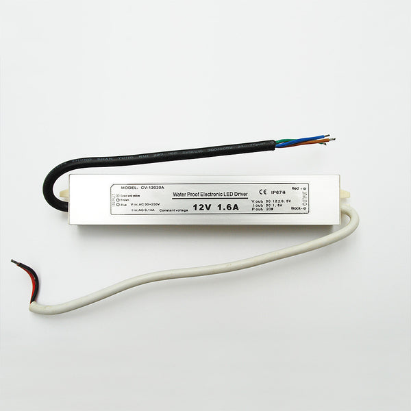 Waterproof LED Driver: Constant Voltage 12V / 20W from AC 230V