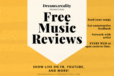 FREE music reviews – Dreams2Reality Promotions