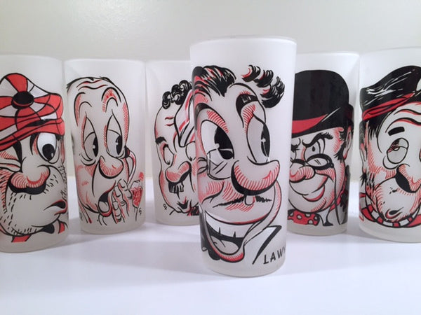 Gay Fad - Vintage Character Collins Glasses (Set of 6)