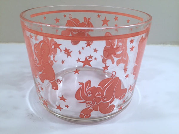 Hazel Atlas Mid-Century Dancing Elephants Ice Container