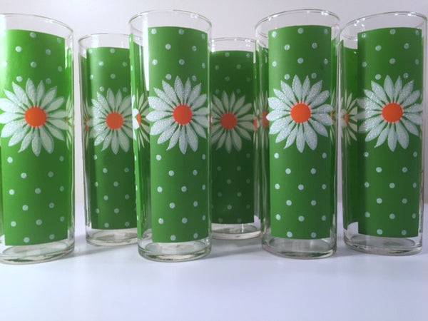 Pasinski Mid-Century Signed Daisy Collins Glasses (Set of 6)