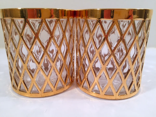 Imperial Glass Sekai Ichi 22-Karat Gold Mid-Century Old Fashion Glasses (Set of 2)