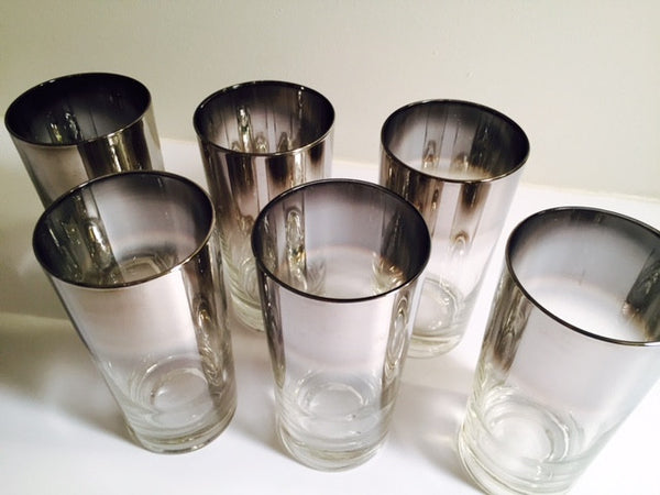 "Vitreon Queen's Luster - Vintage 5 1/2"" Height Water/Tumbler Glasses (Set of 6)"