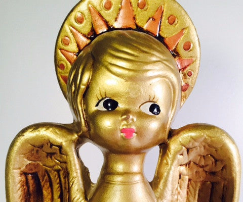 Vintage Golden Angel Figure