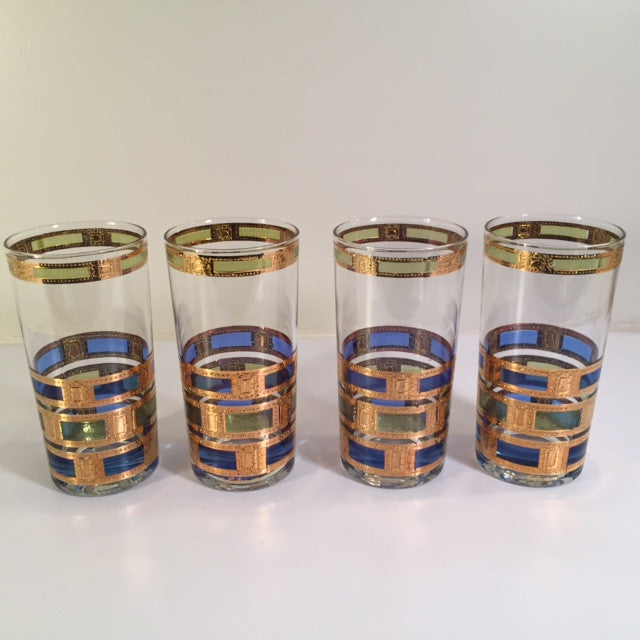 Culver - Signed Empress Design Vintage Highball Glasses (Set of 4)