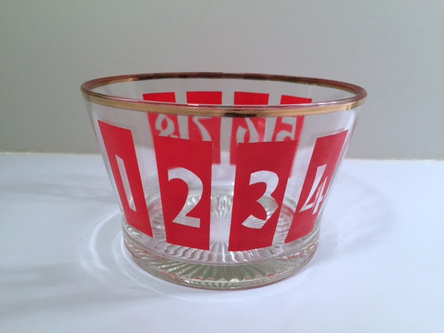 Vintage Numero/Number 1-8 Ice Bucket