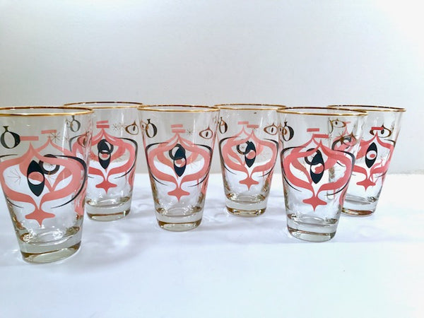 Libbey - Mid-Century I Dream of Jeannie Atomic Glasses (Set of 6)