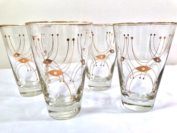 Libbey Mid-Century Adagio Glasses (Set of 4)