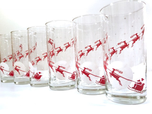Mid Century Up-Up and Away Highball Glasses (Set of 6)