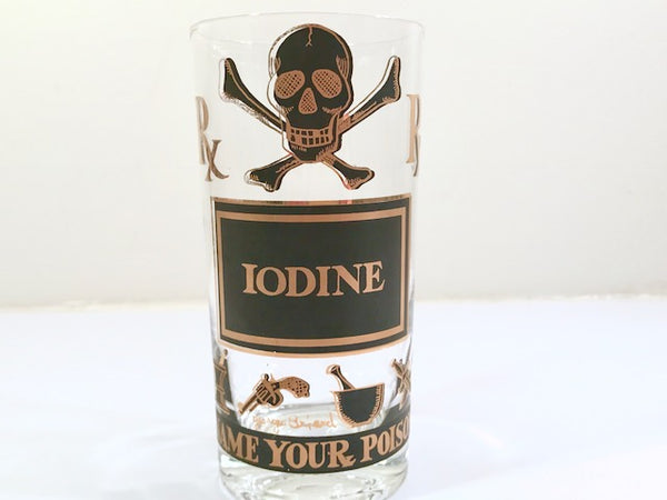 Georges Briard Signed Name Your Poison Single Glass – Iodine
