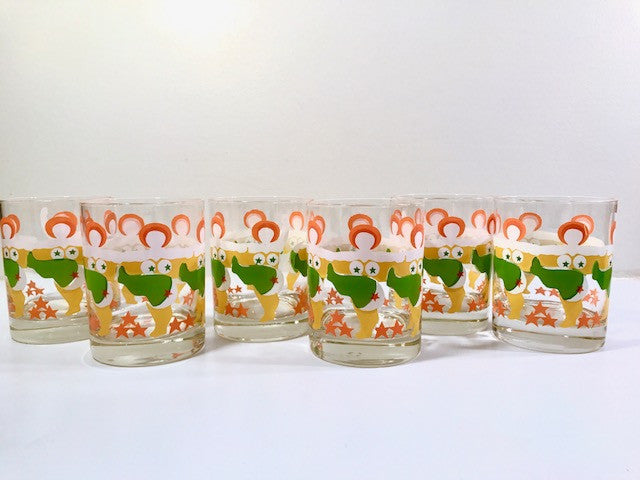 Tastesetter Signed Can Can Girls Double Old Fashion Glasses (Set of 6)