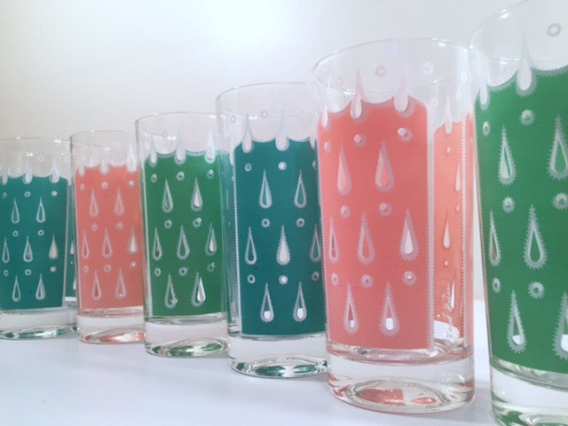Fred Press - Signed Mid-Century Raindrop Set (6 Glasses)