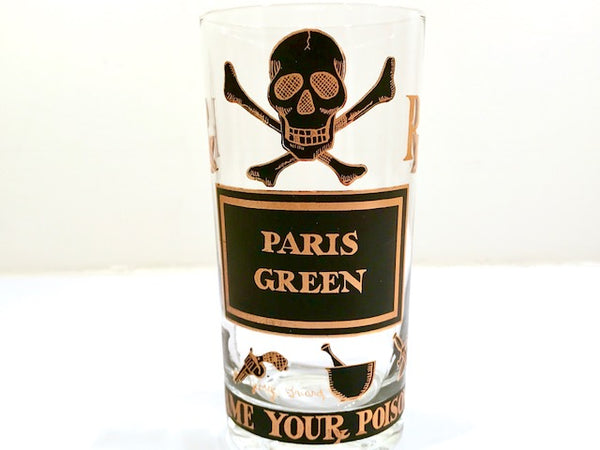 Georges Briard Signed Name Your Poison Single Glass – Paris Green