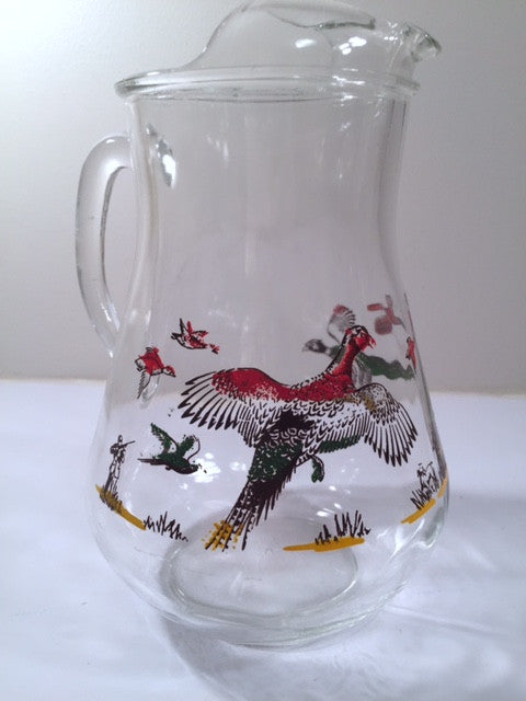 Hazel Atlas Mid-Century Pheasant Milk-Juice Pitcher