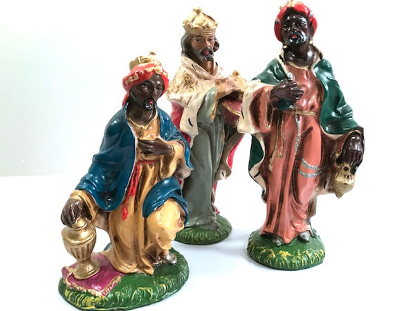 Vintage Three Kings Of The Orient Nativity Set of 3