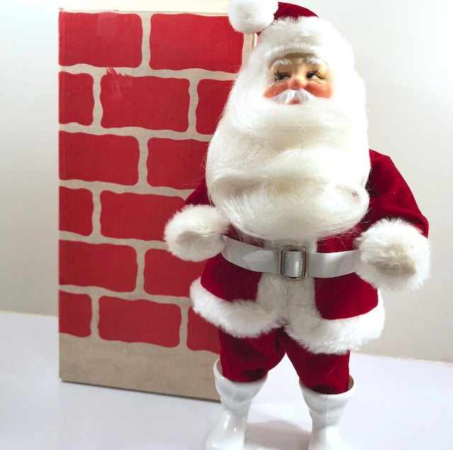 Harold Gale Santa In Original Chimney Box