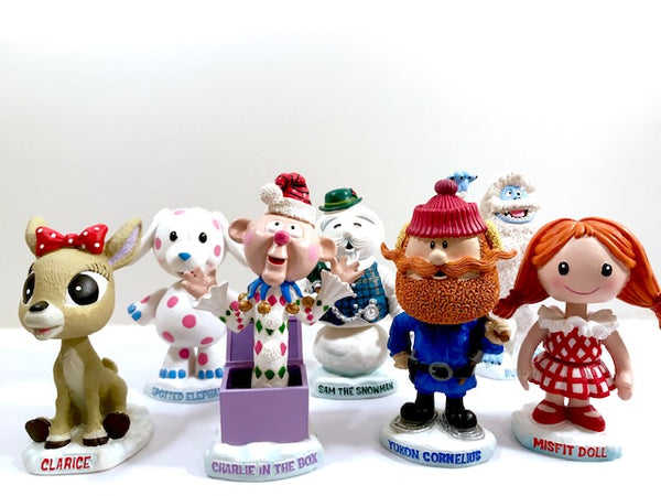 Rudolph The Red-Nosed Reindeer Character Bobble Head Set of 7