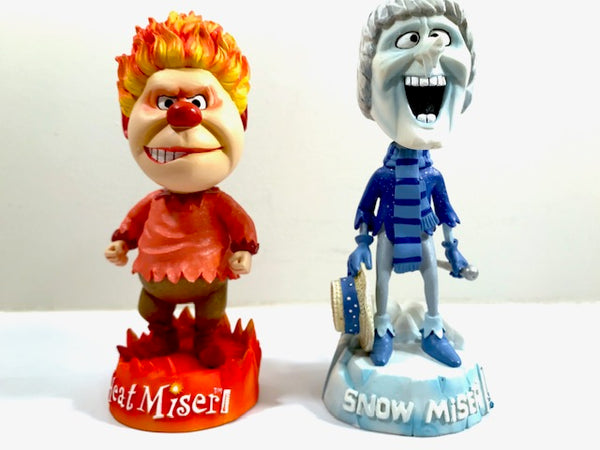 The Year Without A Santa Claus Heat Miser and Snow Miser Bobble Heads (Set of 2)