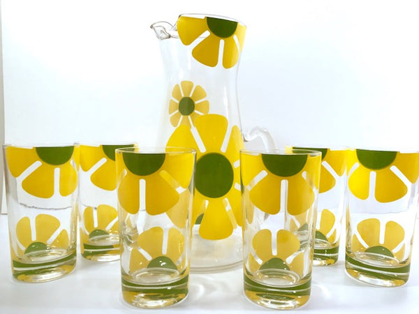 Colony Yellow Daisy Flower Power 7-Piece Set