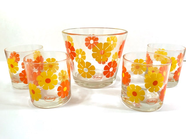 Colony Signed Flower Power 5-Piece Bar Set