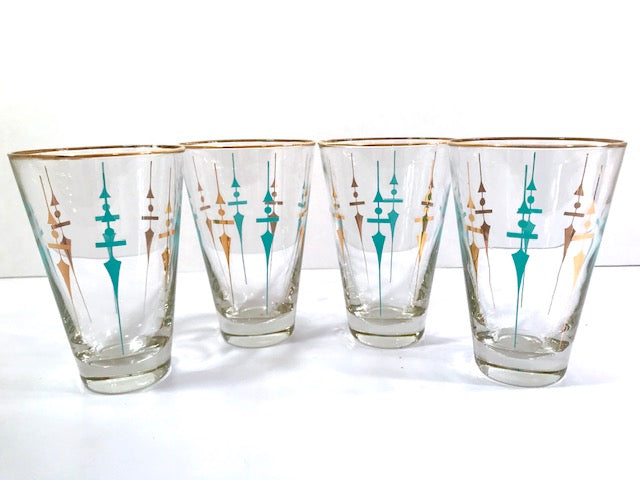 Libbey Mid-Century Staccato Glasses (Set of 4)
