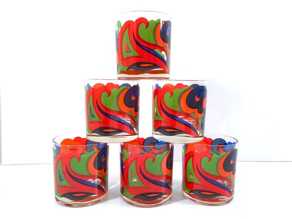 Retro Psychedelic Glasses (Set of 6)