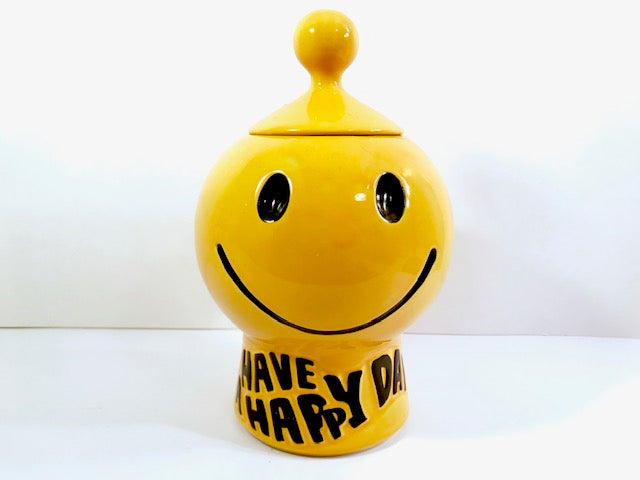 McCoy Have A Happy Day Smiley Face Cookie Jar