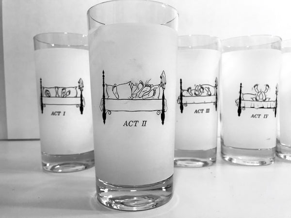 Mid-Century Risque Bedroom Glasses (Set of 6)