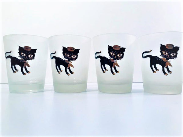 Amaida Amour Hipster Siamese Male Kitten Double Old Fashion Glasses (Set of 4)