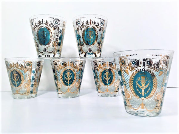 Georges Briard Signed Mid-Century Royal Double Old Fashion Glasses (Set of 6)