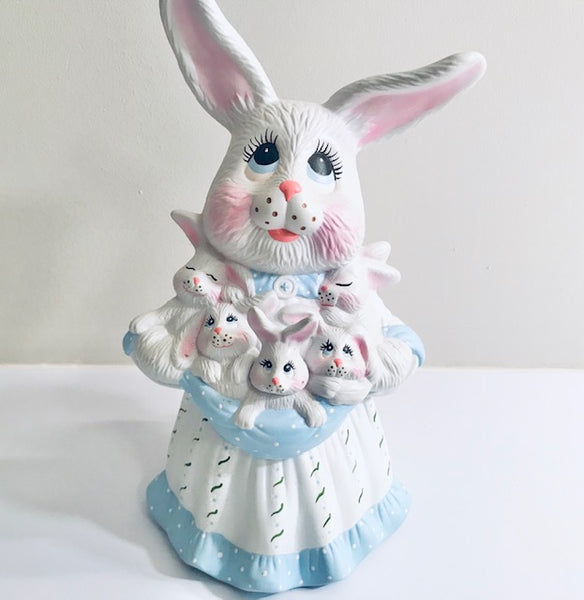 Mrs. Peter Cottontail Ceramic Figure