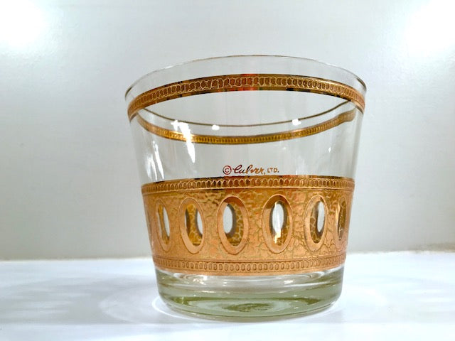 Culver Signed Antigua Mid-Century 22-Karat Gold Ice Bucket