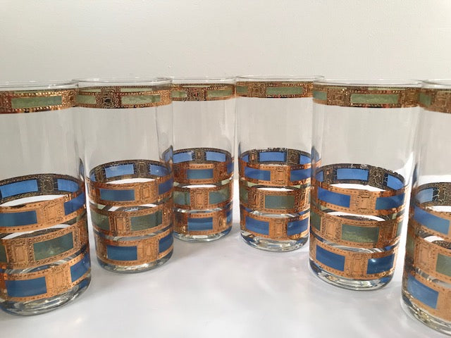Culver Mid-Century Empress Highball Glasses (Set of 8)