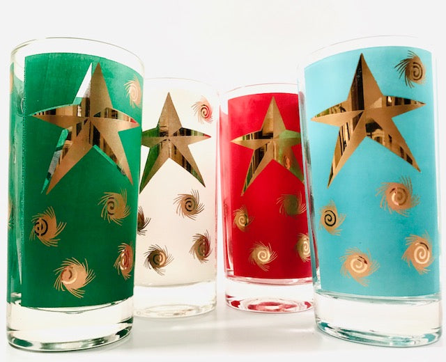 William A Meir Retro Christmas Glasses (Set of 4)