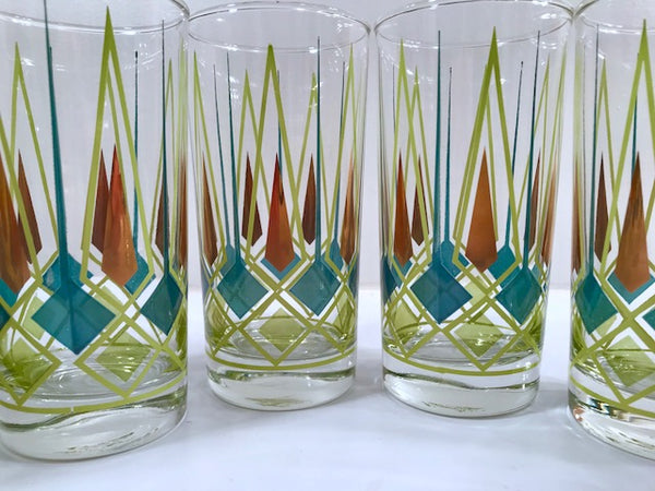 Federal Glass Art Deco Highball Glasses (Set of 8)