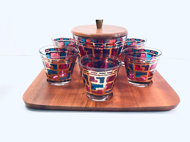Mid-Century Modern 8-Piece Bar Set