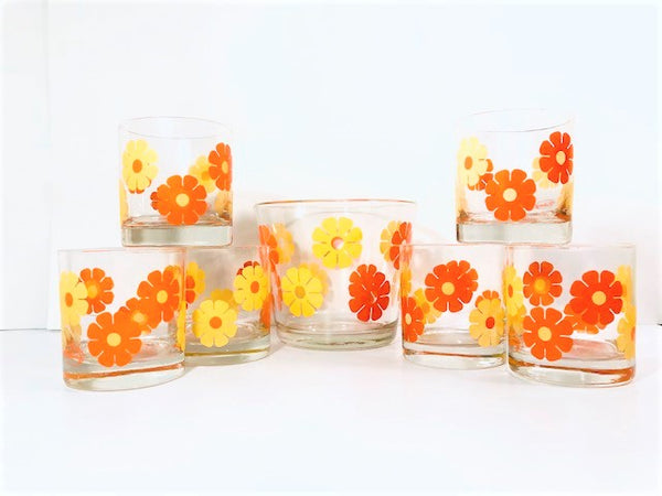 Colony Signed Flower Power 7-Piece Bar Set