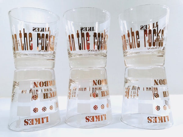Vintage On The Rocks Glasses (Set of 6)