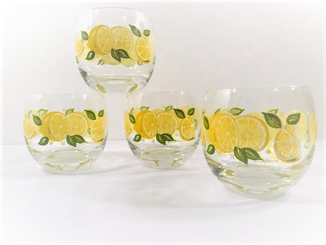 Culver Signed Mid-Century Roly Poly Glasses (Set of 4)