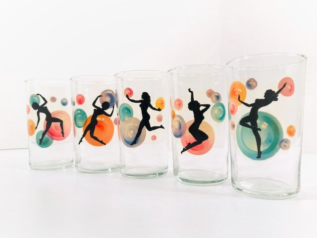 Anchor Hocking Nude Silhouette Glasses (Set of 5)