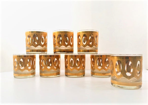 Culver Signed Mid-Century Imperial Old Fashion  Glasses (Set of 8)