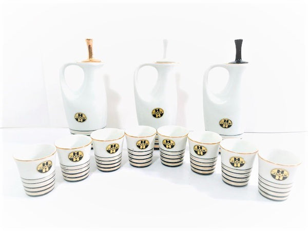 Holt Howard 11-Piece Porcelain Liqueur Set