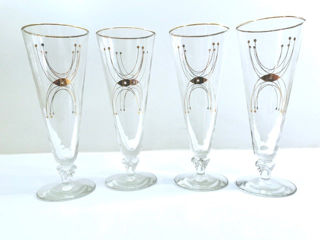 Libbey Mid-Century Adagio Pilsner Glasses (Set of 4)