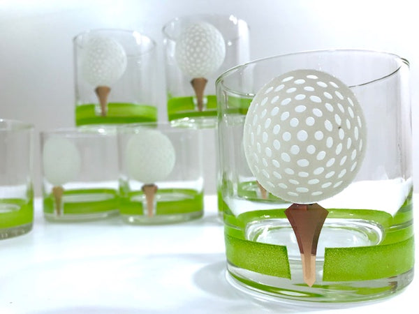 Giant Golf Ball Glasses (Set of 7)