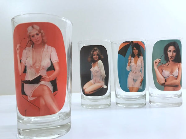 Spencer's Striptease Female Glasses (Set of 4)