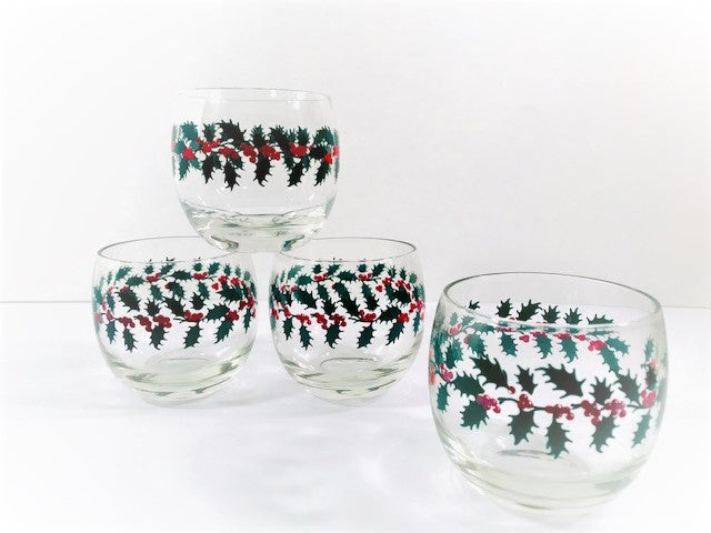 Rubel Holly and Berry Roly Polys Glasses (Set of 4)