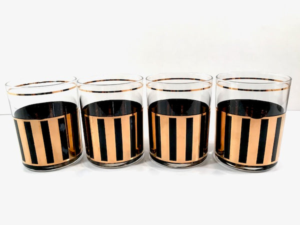 Culver Signed Roma Double Old Fashion Glasses set of 4