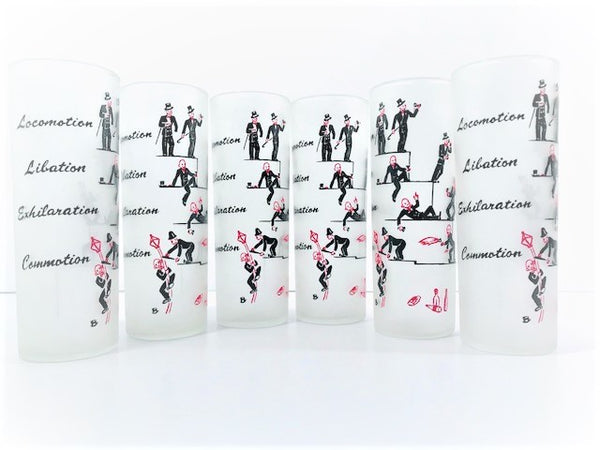 Federal Glass What Level Are You Humorous Tall Collins Glasses (Set of 6)
